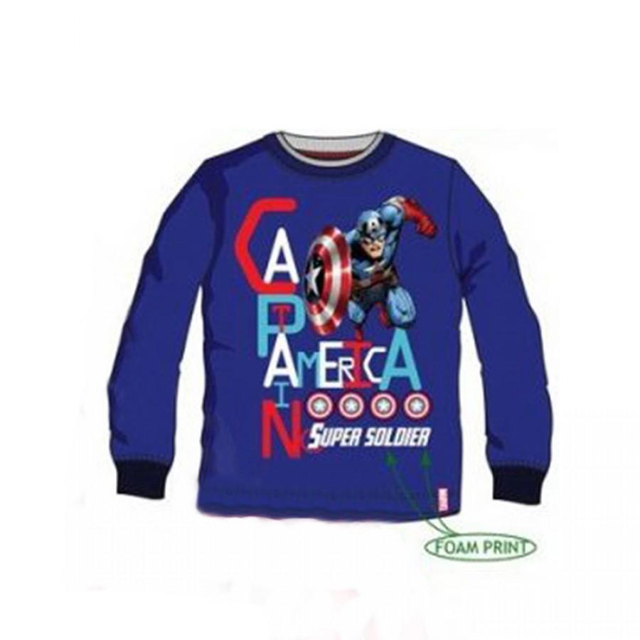 Μπλούζα Avengers Captain America 4, 8, 10 Χρονών 18105