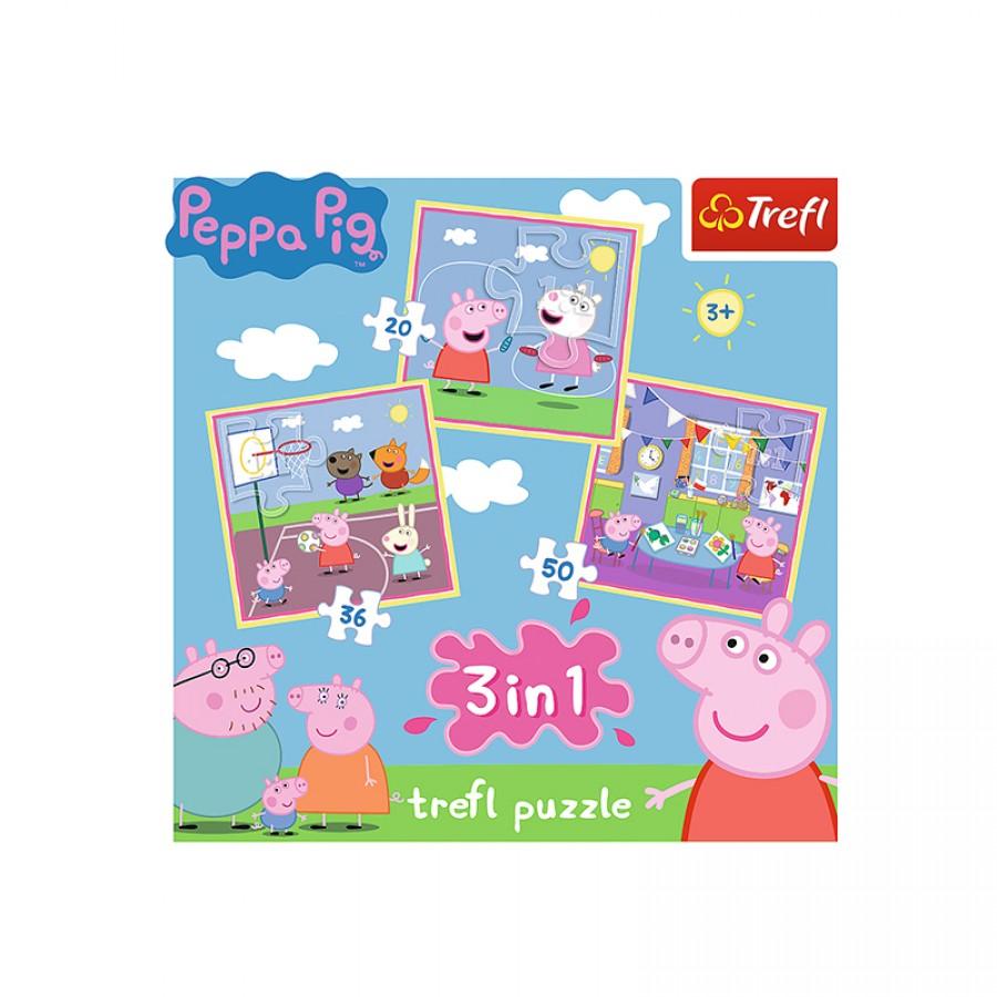 Παζλ 3 in 1 Peppa Pig 3+ 21955