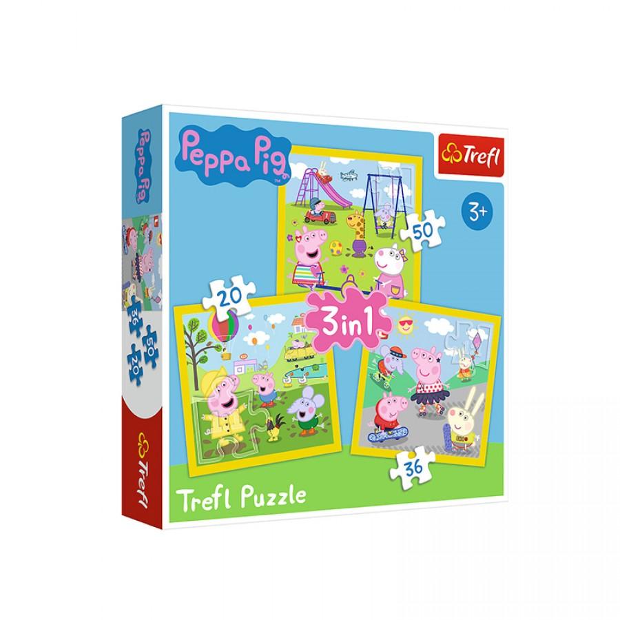 Παζλ 3 in 1 Peppa Pig 3+ 21956