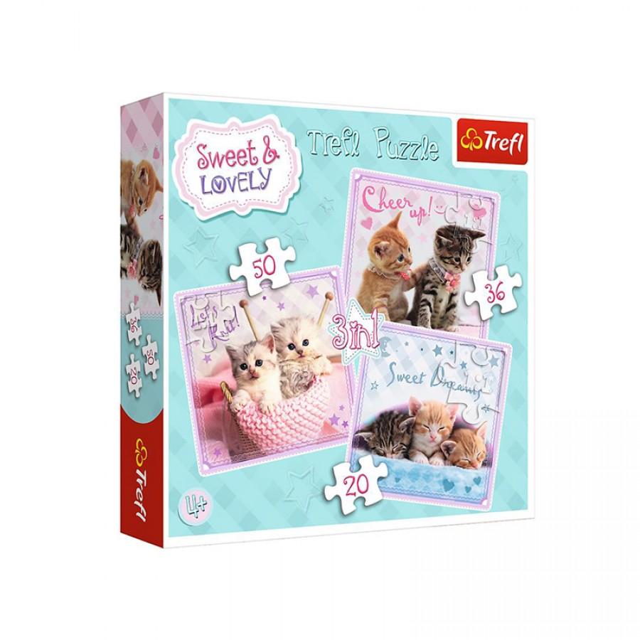 Παζλ 3 in 1 Sweet Kittens 4+ 21958