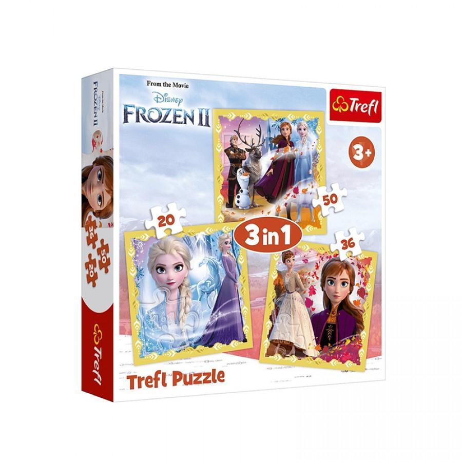 Παζλ 3 in 1 Frozen 3+ 21960