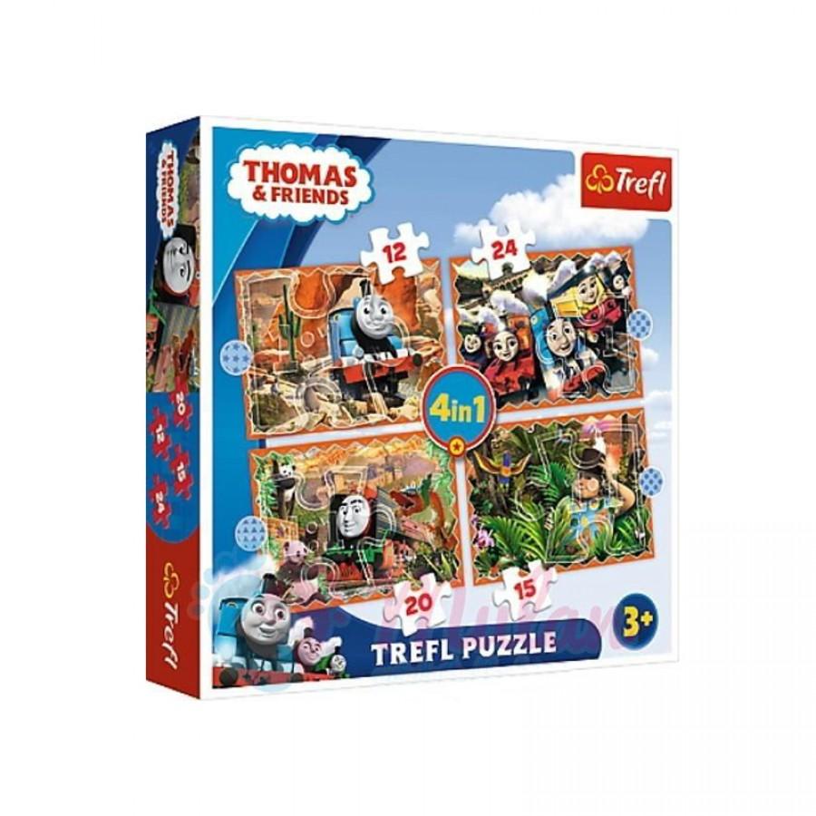 Παζλ 4 in 1 Thomas and Friends 3+ 28640