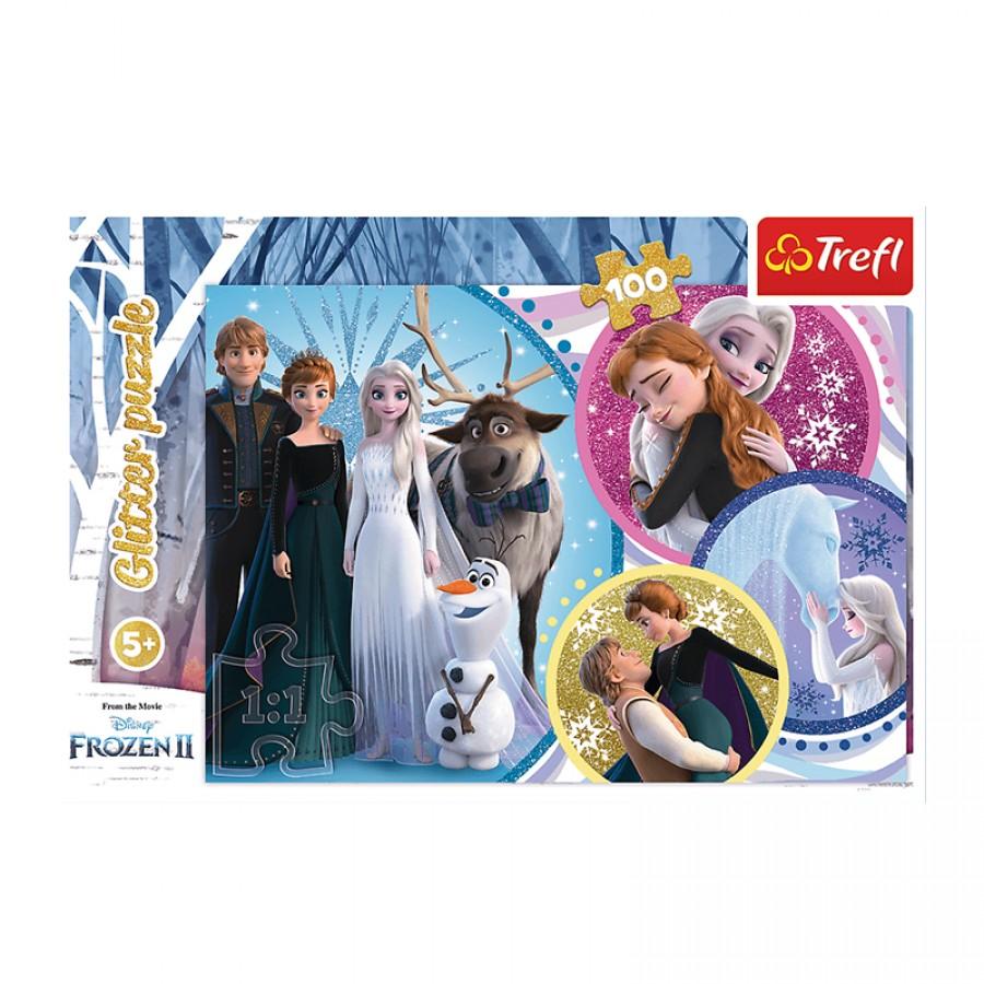 Παζλ Frozen με Glitter 5+ 36714