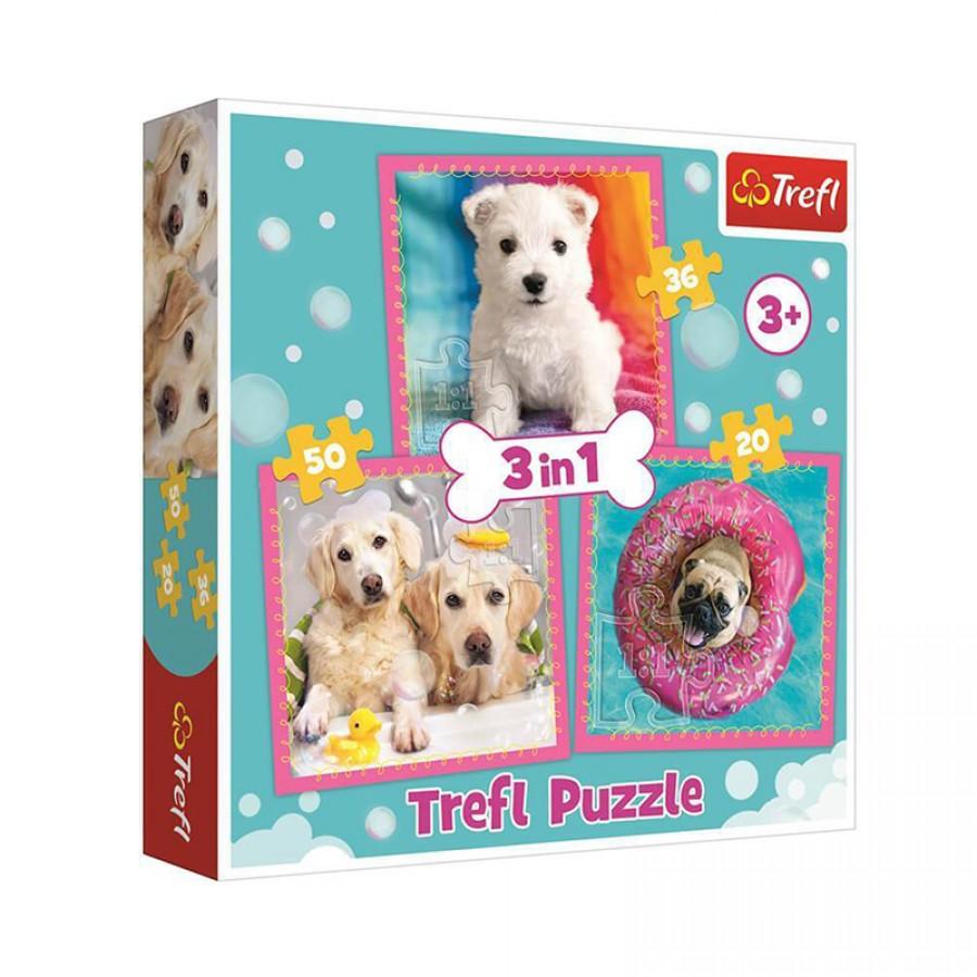 Παζλ 3 in 1 Σκύλοι 3+ 57357