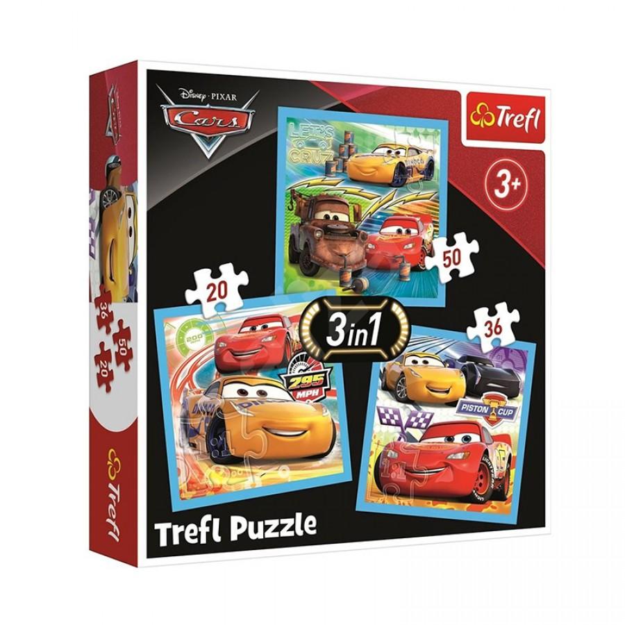 Παζλ 3 in 1 Cars 3+ 57358