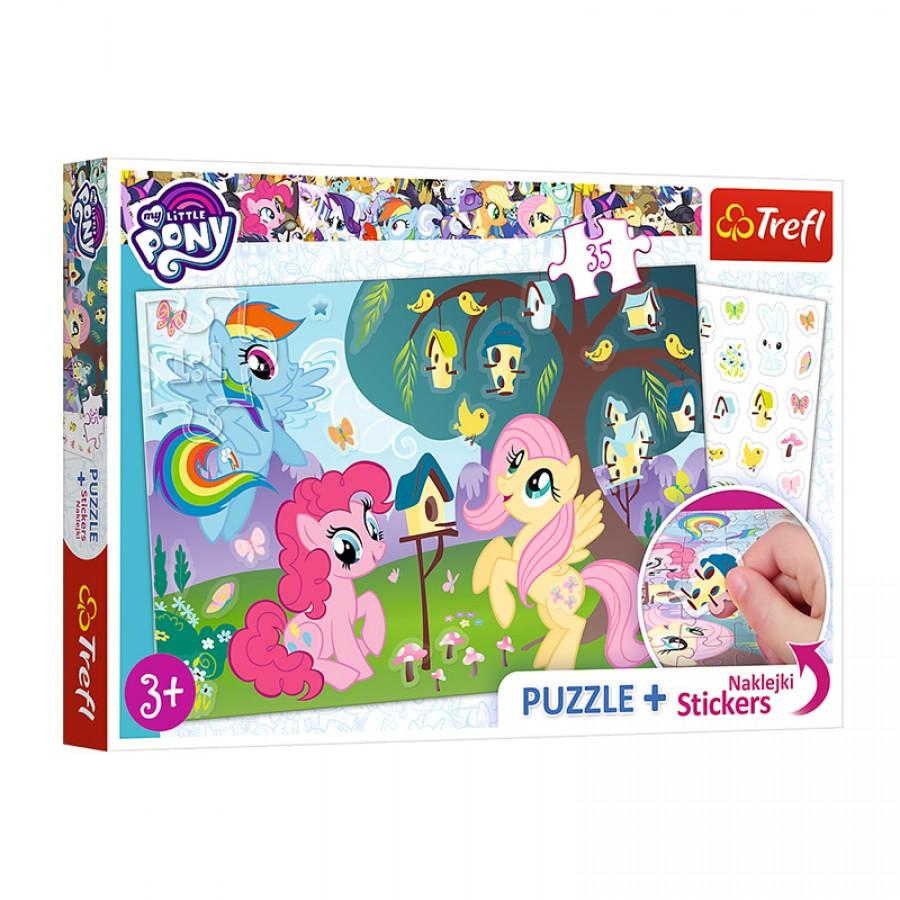 Παζλ My Little Pony με αυτοκόλλητα 5+ 59328