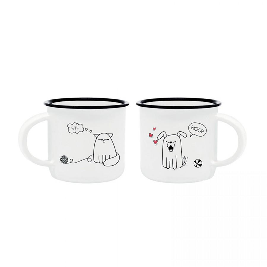 Φλιτζανάκια Σκύλος και Γάτα 70779