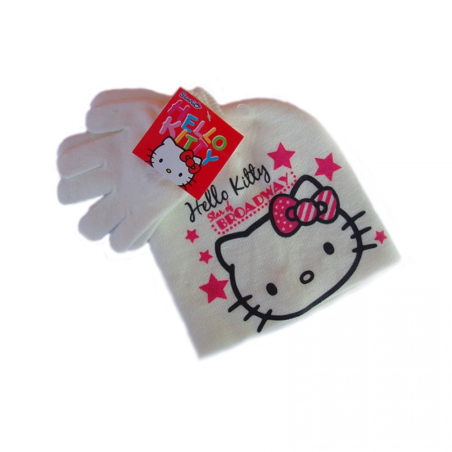 Σκούφος και γάντια Hello Kitty 12617