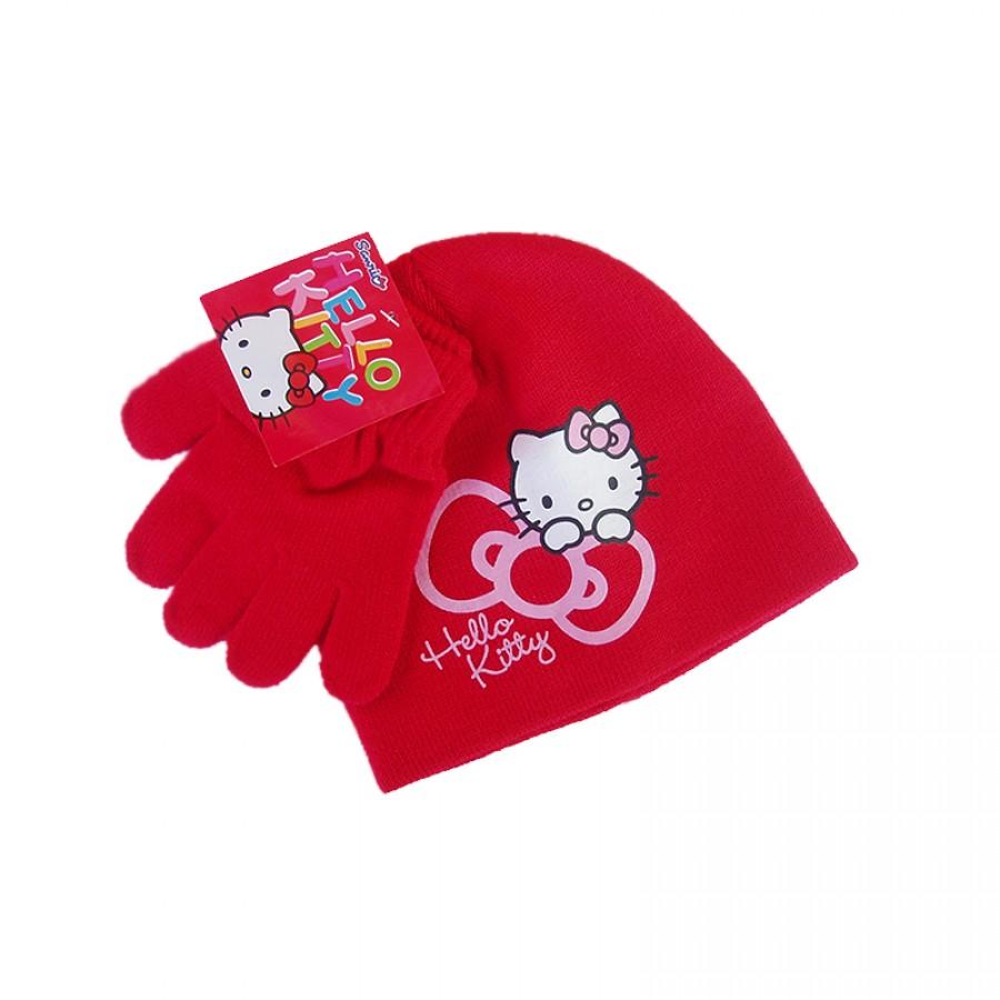 Σκούφος και γάντια Hello Kitty 12619