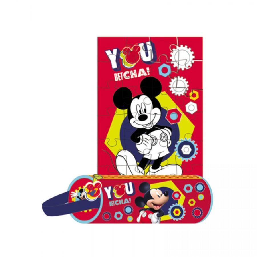 Κασετίνα Mickey Mouse με παζλ 12831