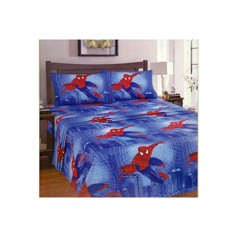 Χειμερινά σεντόνια Spiderman μονά 12521
